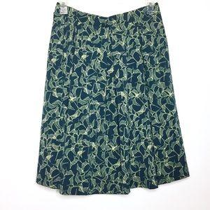 LulaRoe Madison Skirt Green Bird Print L